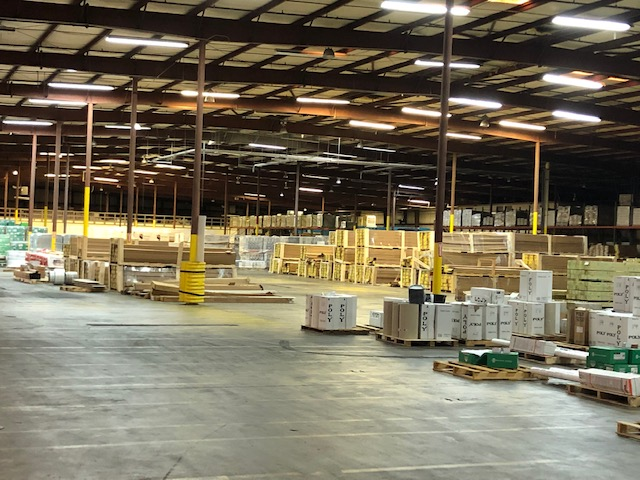 soffit material for sale in Atlanta large warehouse