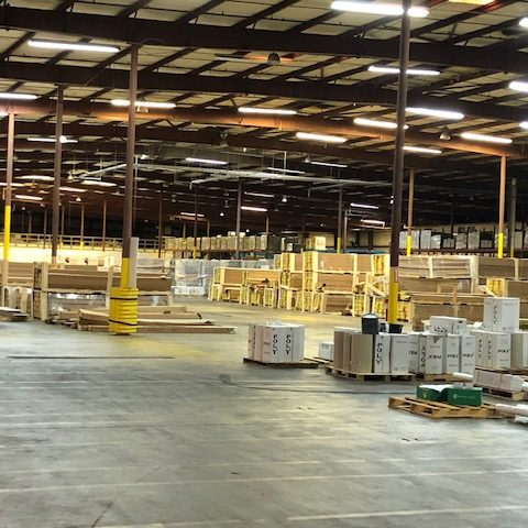 Warehouse for siding and roofing supply company